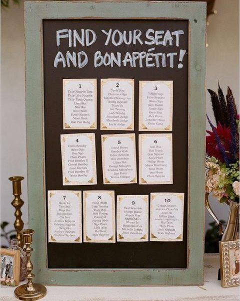 wedding reception seating